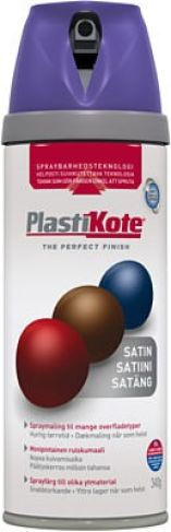 Plasti-kote lilla satin 400ml spraymaling twist 22116 360222116