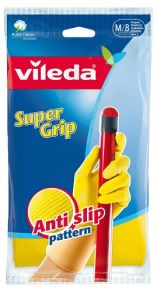 Gummihandske Vileda supergrip gul medium