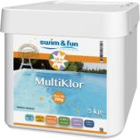 Swim & Fun multiklor tabletter 200 gram. 5,0 kg i spand