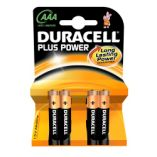 Duracell Plus Power 4 stk. AAA alkaline batteri