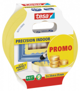 Tesa afdækningstape 2 pak 25mx25mm precision indoor 56212 afdækningstape