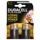 Duracell plus power batterier C / LR14. Pakke med 2 stk.