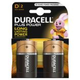 Duracell plus power batterier D / LR20. Pakke med 2 stk.