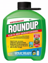 Ukrudtsmiddel - Monsanta Roundup spray ready 5ltr