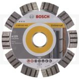 Diamantskæreskive Bosch DIAMANTSKIVE 125MM BEST UNIVERSAL